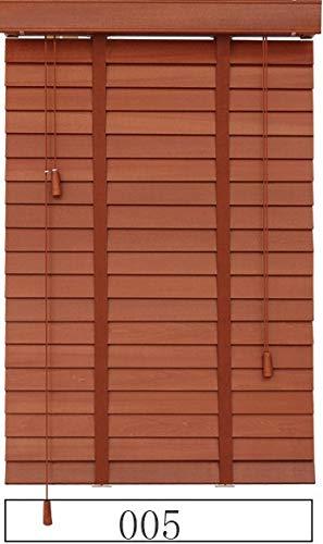 HOUSEHOLD Schattierungen Verdunkelung Jalousien für Fenster Holzjalousie Leiterband Styel Customized Größe Block Der Licht Real Wood Jalousien (Color : 005, Size : Customize Size(1 m2))