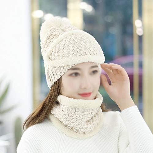 JJSPP Gestrickte Hüte Schal Set Hüte Turban Beanie Caps für Mädchen Baumwolle...