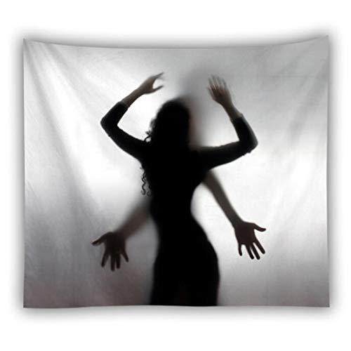 Jcnfa Material del Cuerpo Humano Tapices En Blanco Y Negro, Diversas Acciones, Cortina, Colcha, Manta De Picnic, Cortina De Ducha, Tapiz De Pared para La Decoración De La Pared del Hogar