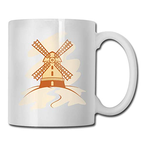 Süße Pinguine Kaffeetasse, 325 ml, lustige Kaffeetasse, Teetasse, Geburtstagsgeschenkidee für Männer und Frauen, porzellan, Dutch Windmill Anime Art, Einheitsgröße