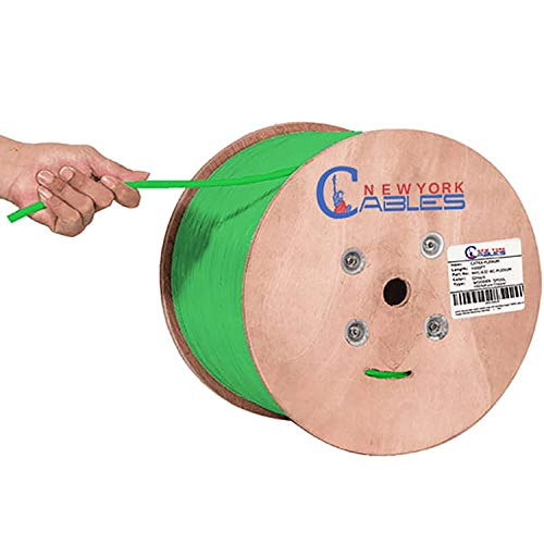 Newyork Cables Cat6A Riser (CMR) 1000ft - 23AWG 4 Pair Solid Bare Copper, 750MHz, Unshielded Twisted Pair (UTP), Available in Blue, White, Green, Black & Yellow Color