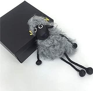 ZAMTAC 10pcs/Set 100% Rex Fur Shaun The Sheep Cell Phone Car Bag Doll Ball Bag Chain Sheep Doll Floss Decoration - (Color: Gray)
