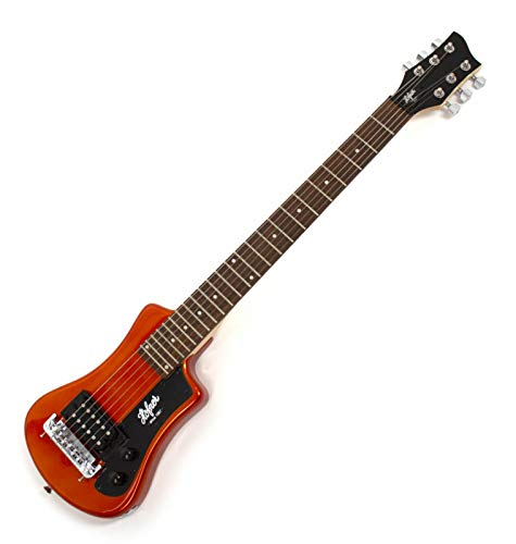 Höfner HCT-SH-MO Shorty - Guitarra eléctrica (incluye funda), color naranja