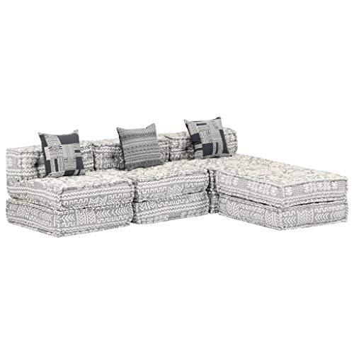 Sofá de 3 plazas de vidaXL, sofá modular con función de sueño, cama de invitados, sofá, sofá, sofá, sofá, sofá, sofá, sofá, sillón, chaiselongue, tela gris