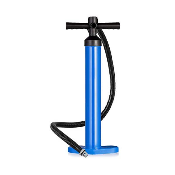 GYMAX SUP Hand Pump, High Pressure Hand Pump Max 29 PSI Inflate and Deflate Double Action for Faster Inflation, Suitable for All Stand up Paddle Board Boat and Kayak