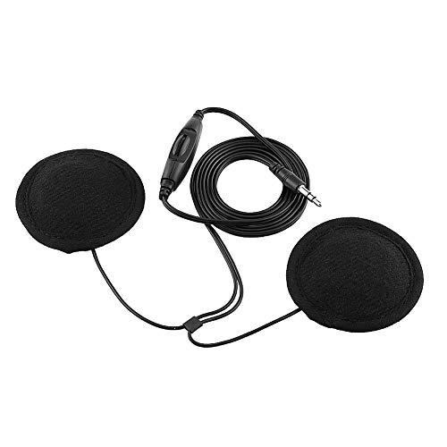 Bediffer Auriculares para Casco de Motocicleta con Cable de extensión, Auriculares para Casco Air Open-Ear inalámbricos para MP3, teléfono móvil y Otros Dispositivos