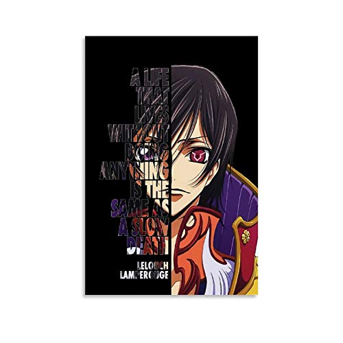 Lelouch Anime Inspirational Quotes Poster Wall Art