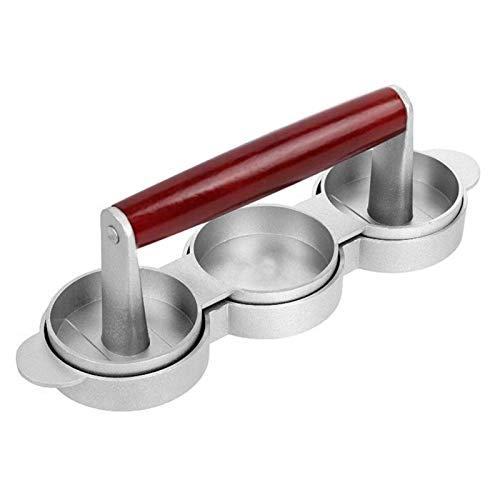 Triple Burger Press + Kabob Maker + Frikadellenformer, Antihaft-Hamburgerformzubehör aus Aluminium für perfekte Fleischpasteten, Gemüseburger, Lachs-Pastetchen