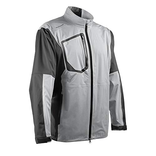 Lowest Price! Sun Mountain Elite Rain Jacket - Platinum/Steel (Medium)