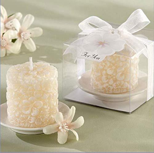 LXP Art Candle decoración del hogar Velas de Alivio decoración del Banquete de Boda romántico candelabro con 4pcs / Pack