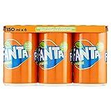 Fanta Original Soft Drink, Arancia, 6 x 150ml