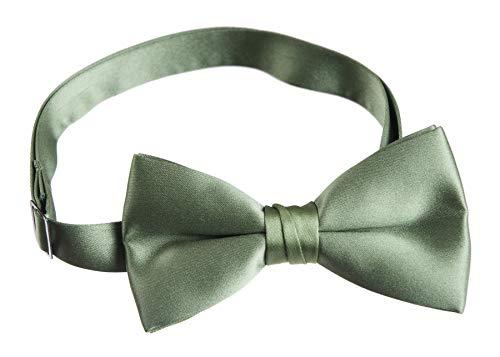 Tuxgear Mens Adjustable Satin Bow Tie, Men's, Clover Green