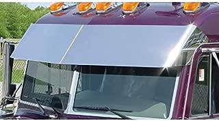 14.5 Inch Stainless Steel Drop Visor Fits Peterbilt 378/379