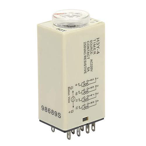 Delay Timer Relay,Relais H3Y-4 Einschaltverzögerungs Timer Relais 0-60 Minuten Zeitrelais AC 220V 5A,H3Y-4 Zeitrelais 220V