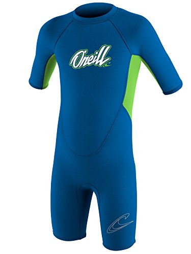 O'Neill Reactor Toddler Shorty Wetsuit Youth 2 Ocean/Dayglo (5127B)