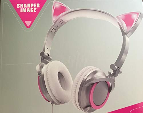 Magical Fun Ear Headphones Light Up Glowing Ears Kitty Cat Enhanced Musical Sound Style! (Pink)
