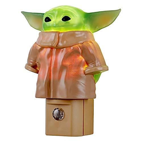 La luz nocturna LED Baby Yoda para nios, lmpara de silicona, mandaloriano, 3 pilas AAA, dormitorio, sala de juegos, mejoras para el hogar