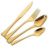Buyer Star Couverts Or Vaisselle Acier Inoxydable Coutellerie, Couteau et Fourchette Set Haute qualité Cutlery Set
