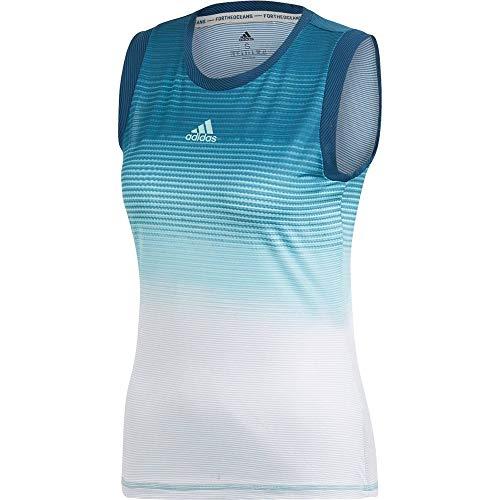 adidas Damen Parley Tanktop, Blue Spirit/White, S