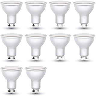 ZoneLED SET, 10 x LED Bombilla GU10, 3W = equivalente incandescente 25 W, 210 lúmenes, Blanco cálido 3000K, 110°