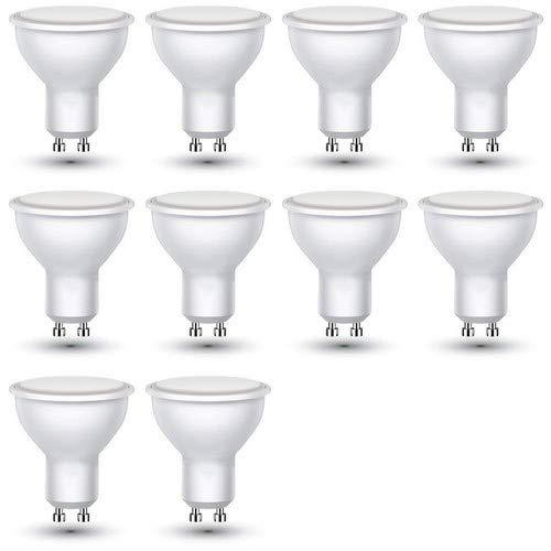 V-TAC ZoneLED Set, 10x LED Leuchtmittel GU10 3W = 25W Glühlampe 210lm Warmweiß 3000K 110°