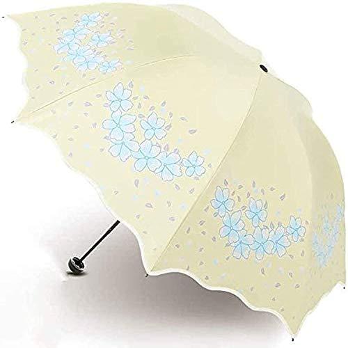 Paraguas portátil Paraguas portátil damas doble capa paraguas sol paraguas plegable protección uv protección a prueba de viento paraguas doble uso (color: b) Paraguas de viaje compacto a prueba de vie