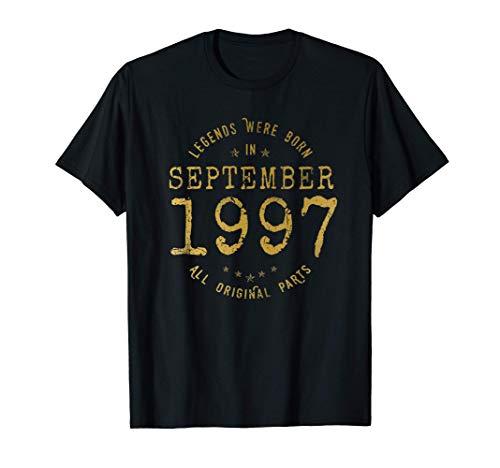 24 años Cumpleaños Las Leyendas nacen en Septiembre de 1997 Camiseta