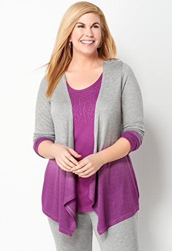 CHRISTOPHER & BANKS Relaxed Restyled Ombre Lounge Cardi
