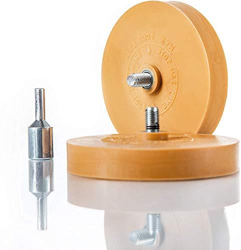 BenBow 2X Zierstreifen Radierer Folienradierer Lackieren Vanille KFZ 90mm + 1x Adapter