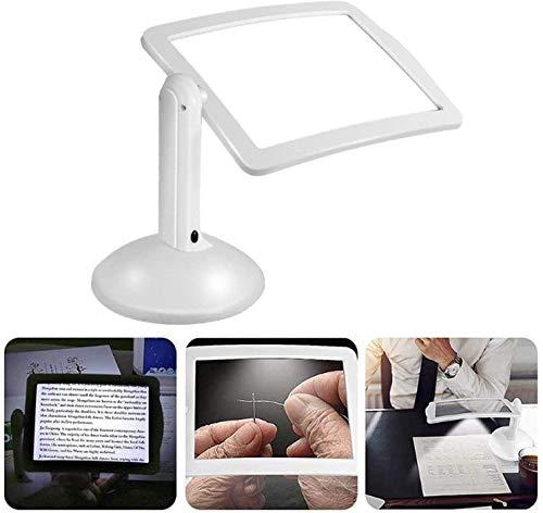 Leselupe mit LED-Licht 360 Drehbare Freisprecheinrichtung Rechteckiger Bildschirm Leselupe zum Lesen von Kleingedruckten