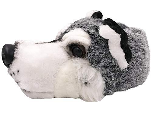 Pfüller Plüsch Hausschuhe Hunde Wolf Tierhausschuhe, EU 37-39