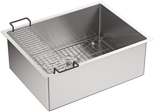 KOHLER K-5286-NA Strive Unterbauspüle für Küchenspüle mit Waschbecken, Edelstahl, 61 x 46 x 23 x 23 cm, 1 Stück
