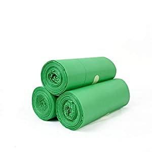 200 Degradables Bolsas de Basura, Gran Resistencia Al Desgarro, Extra Resistentes, No Gotean 45x55cm –Verde, Jardín, Hogar, Oficina, Cocina