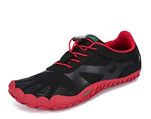 SAGUARO Scarpette da Five Fingers Uomo Scarpe Multisport per Corsa Donna Leggere Scarpe da Trail Running Rosso 40 EU