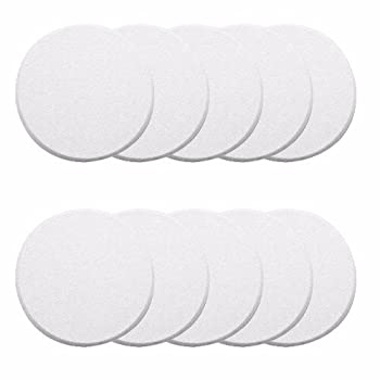 Wideskall White Round Door Knob Wall Shield Self Adhesive Protector  Pack of 10