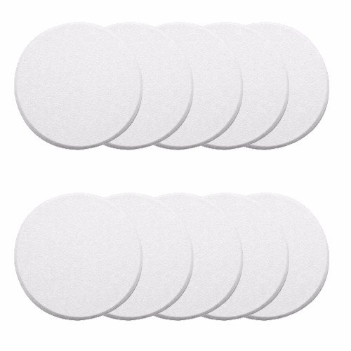 Wideskall White Round Door Knob Wall Shield Self Adhesive Protector (Pack of 10)