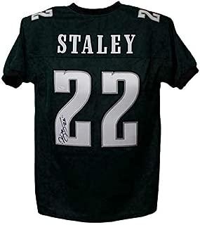 Duce Staley Autographed Jersey - Green XL 13907 - JSA Certified - Autographed NFL Jerseys