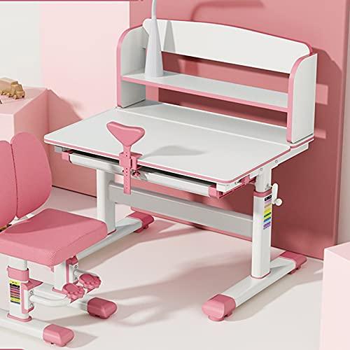 escritorio estudio Estudio for niños Escritorio de la escuela primaria Escribir escritorio de la tarea Escritorio for el hogar y conjunto de ascensores escritorio pequeño ( Color : Pink )