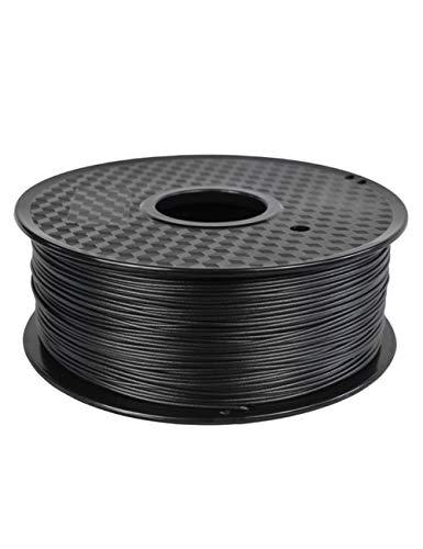 3D-Druckerfilament, PETG-Kohlefasermaterial, Antistatik und Anti-Interferenz, 1,75 mm, 1kg Spule, Schwarz