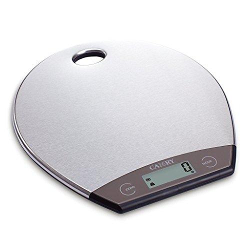 Spotkurv ultraflache digitale Küchenwaage zum Aufgehängen aus Edelstahl, 13 mm Dicke, Mehrfunktion, Silber