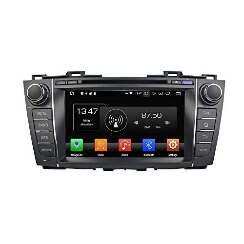 Android 9.0 Octa Core Autoradio Radio DVD GPS Navigation Multimedia-Player Auto Stereo für Mazda 5 Premacy 2009 2010 2011 2012 unterstützt Lenkradsteuerungs mit 3G WiFi Bluetooth frei 8G SD-Karte