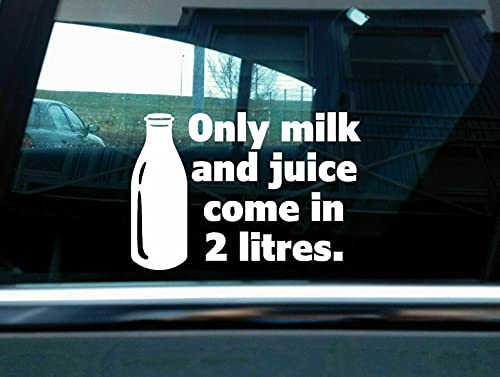 ONLY Milk and Juice Sticker Funny Classic V Muscle car Truck Decal Decal for Car,Funny Decal, Gift Decal