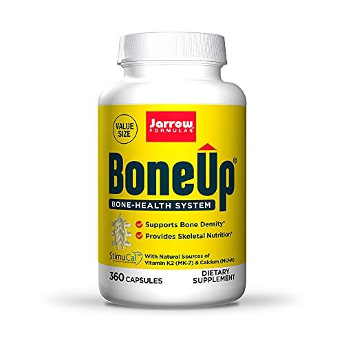 Jarrow Formulas BoneUp - 360 Capsules - Micronutrient Formula for Bone Health - Includes Natural Sources of Vitamin D3, Vitamin K2 (as MK-7) & Calcium - 180 Servings