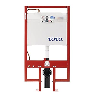 TOTO WT154M#01 DuoFit In-Wall Toilet Tank Dual-Flush System with Copper Supply, Cotton