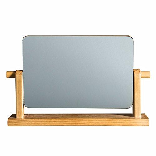 WanJiaMen'Shop Desktop Specchio Specchio Europea Semplice Legno massello Specchio Portatile Specchio in Legno HD Pieghevole Specchio Beauty, 39 * 22.5cm