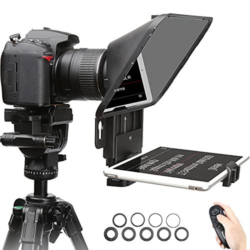 Desview T3 Teleprompter Tableta 11 pulgadas, Cámara Teleprompter con Control Remoto compatible con iPad iPhone Canon Nikon DSLR para Youtube Tiktok Interview Video