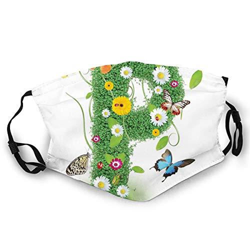 Mundschutz Mund Anti-Staub-Abdeckung Mode,Cute Lively Springtime Freshness Garden Theme Summer Foliage Papilio Wings,Mouth Cver Wiederverwendbare Fack-Abdeckung Bunte Krawattenfarbe