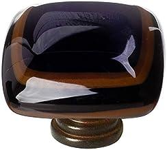product image for Sietto K-101 Stratum 1-1/4 Inch Square Cabinet Knob, Oil Rubbed Bronze