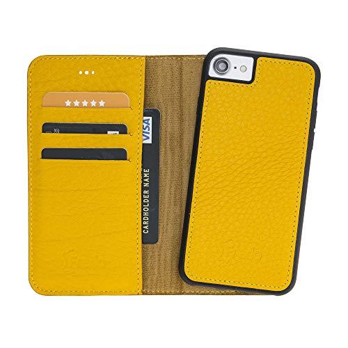 FREDO iPhone 7/8 telefoonhoezen premium echt lederen hoes - met afneembare - 2 in 1 - en dunne beschermhoezen voor Apple iPhone 7/8 telefoonhoes/cases met magneet * handgemaakt & Made in Europe *