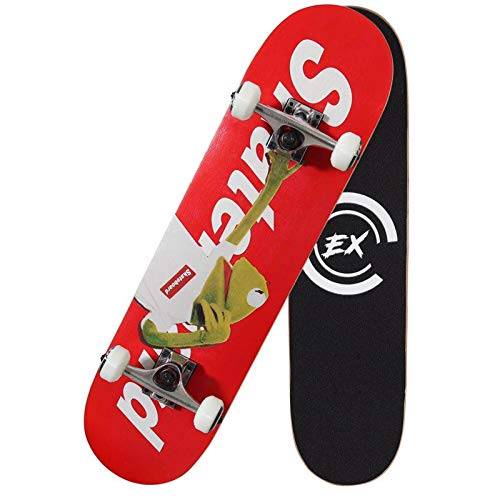 "Pro Skateboards 31"" X 8"" Standard Skateboards Cruiser Complete Canadian Maple 8 Layers Double Kick Concave Skate Boards"